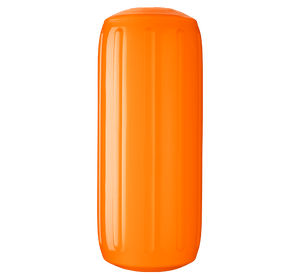 Orange boat fender with a center tube or hole through middle, Polyform HTM-2 Orange