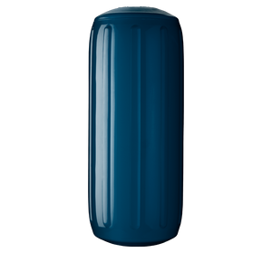 Catalina Blue boat fender with a center tube or hole through middle, Polyform HTM-2 Catalina Blue