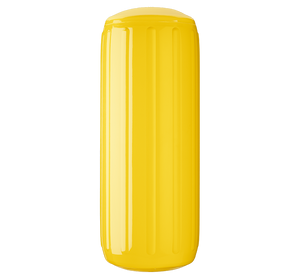 Yellow boat fender with a center tube or hole through middle, Polyform HTM-3 Yellow