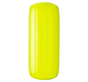 Saturn Yellow boat fender with a center tube or hole through middle, Polyform HTM-2 Saturn Yellow
