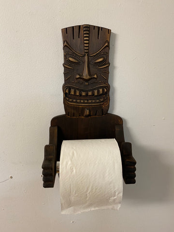 The Kūkae Tiki Toilet Paper Holder