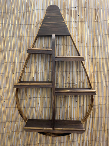 Bamboo Tear Drop Shelf