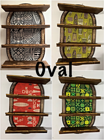 Oval Mug Shelf You Choose Fabric