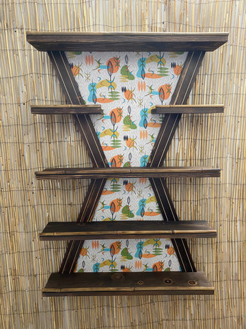 Five Tier Modern Shelf You Pick Your Fabric Choice