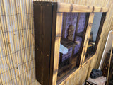 Enclosed Mug Shelf with Bamboo Plexi Glass Doors