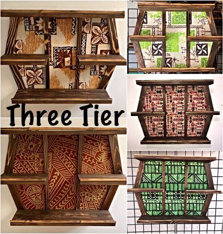Three Tier Mug Shelf You Choose Your Fabric