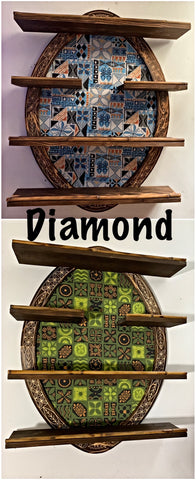 Diamond Tiki Mug Shelf You Choose Fabric