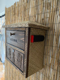 Tiki Hut Mail Box