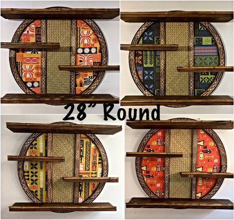"28"" Round Mug Shelf You Choose Fabric"