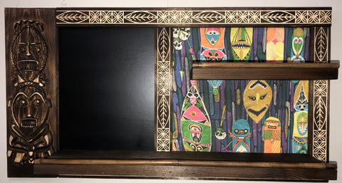 Tiki Spice Rack with Chalkboard