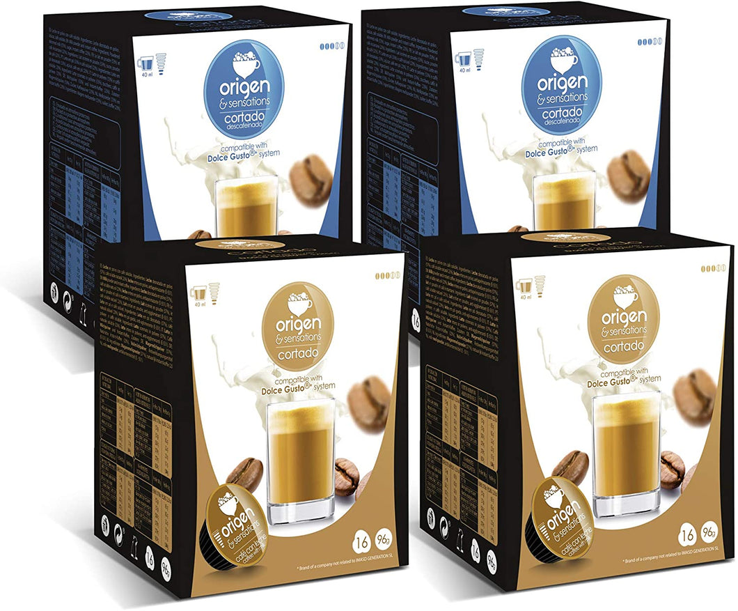 Capsulas compatibles dolce gusto® IV Total 64 cápsulas