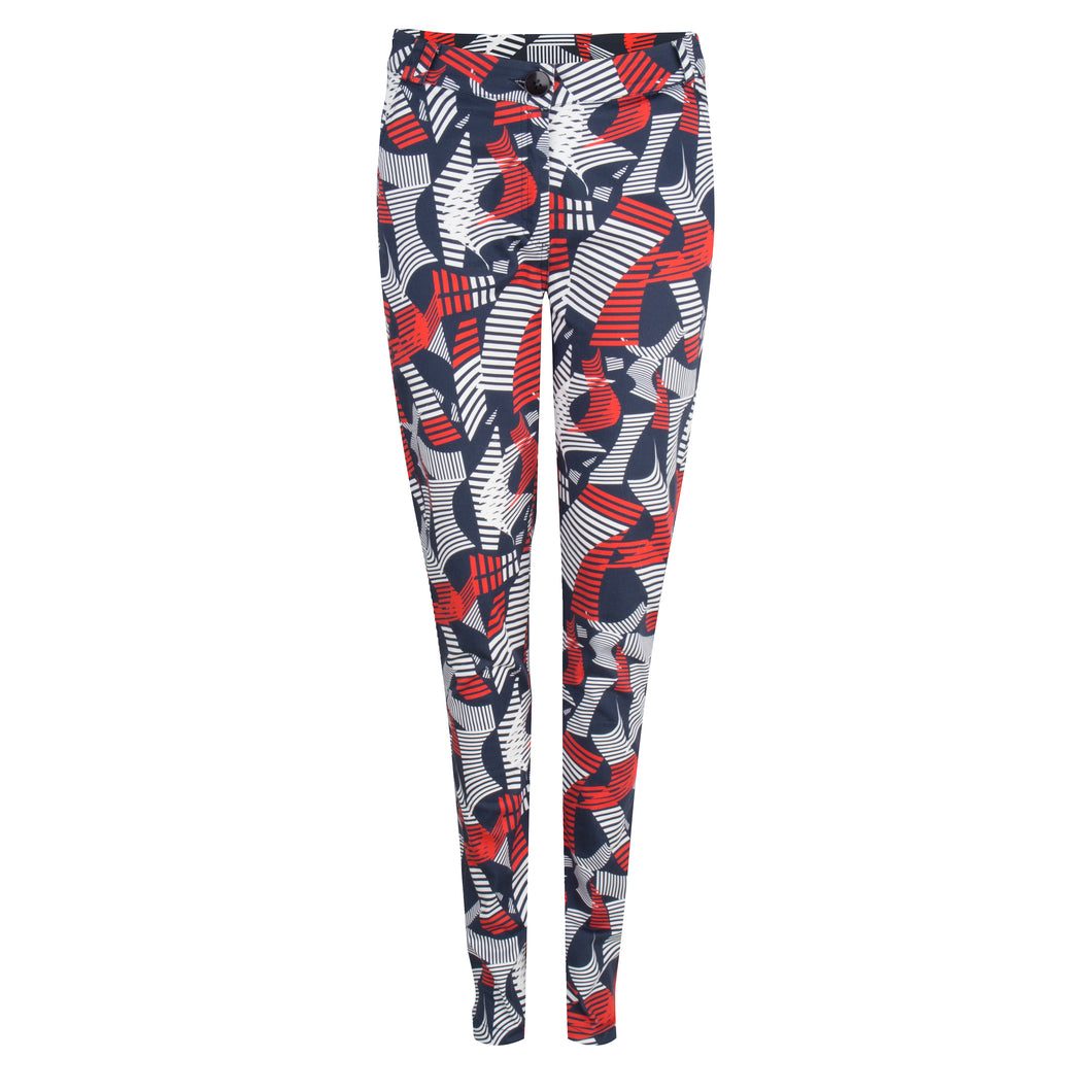 Pantalon in twister print