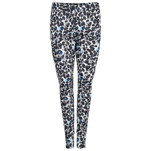 Pantalon met streep aan de zijkant in graphic flower print
