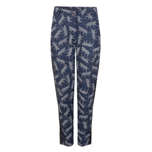 Pantalon in tiger print