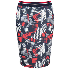 Sportieve rok in twister print