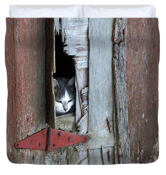 Barn Cat - Duvet Cover