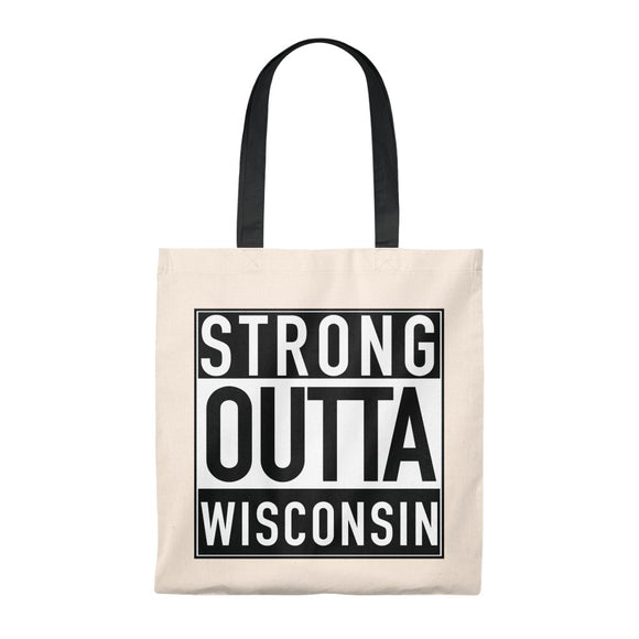 Strong Outta Wisconsin - Tote Bag - Vintage