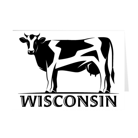 Wisconsin - Cow - Greeting Cards