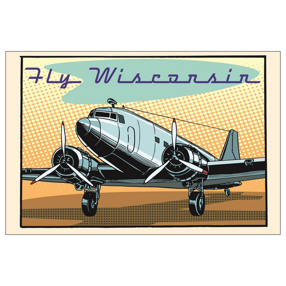 Fly Wisconsin - 4x6 Postcards