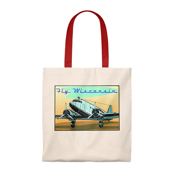 Fly Wisconsin - Tote Bag - Vintage