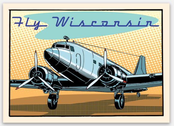 Fly Wisconsin - Vinyl Sticker