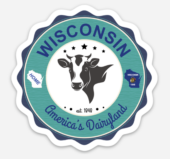 Wisconsin Dairyland - Vinyl Sticker