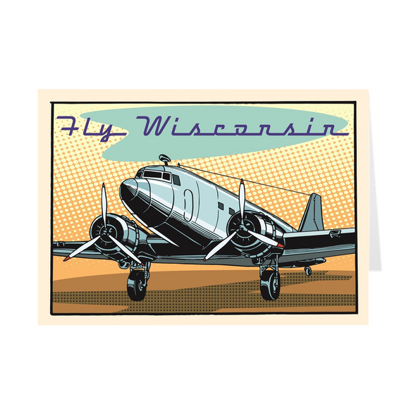 Fly Wisconsin - DC-3 - Greeting Cards