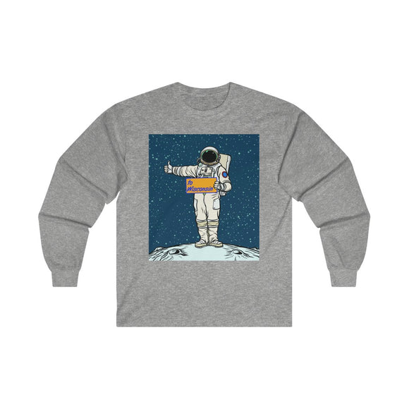 Wisconsin Spaceman - Ultra Cotton Long Sleeve Tee