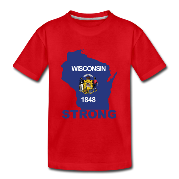 Wisconsin Strong - Kids' Premium T-Shirt - red