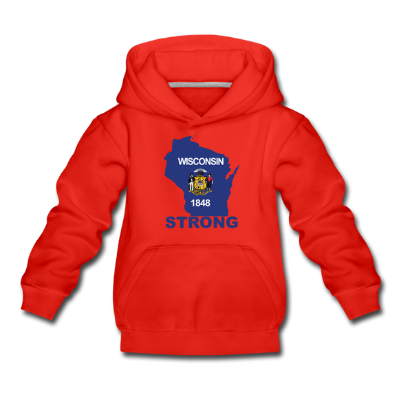 Wisconsin Strong - Kids' Premium Hoodie - red