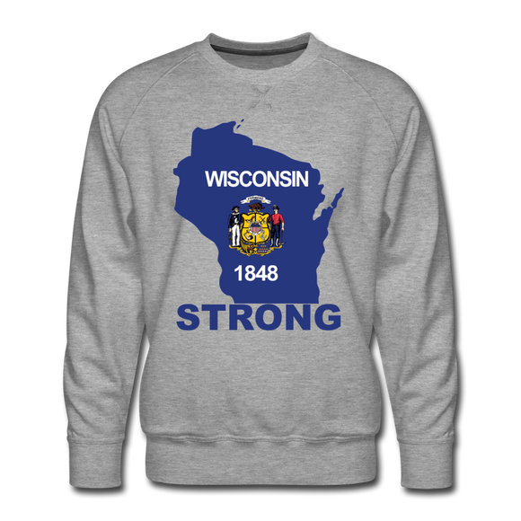 Wisconsin Strong - Men's Premium Sweatshirt - heather gray