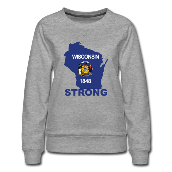 Wisconsin Strong - Women's Premium Sweatshirt - heather gray