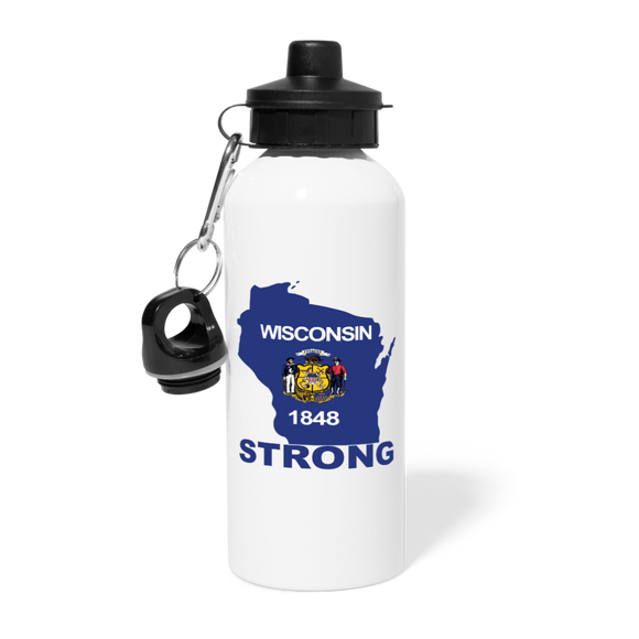 Wisconsin Strong - Water Bottle - white