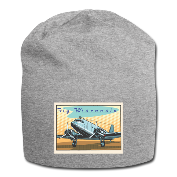 Fly Wisconsin - Jersey Beanie - heather gray