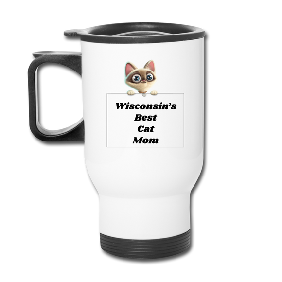 Best Cat Mom - Travel Mug - white