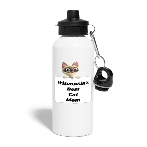 Best Cat Mom - Water Bottle - white