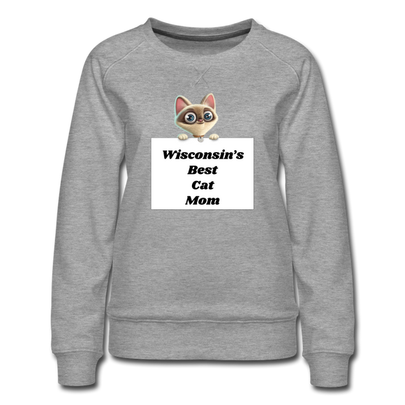 Best Cat Mom - Women's Premium Sweatshirt - heather gray