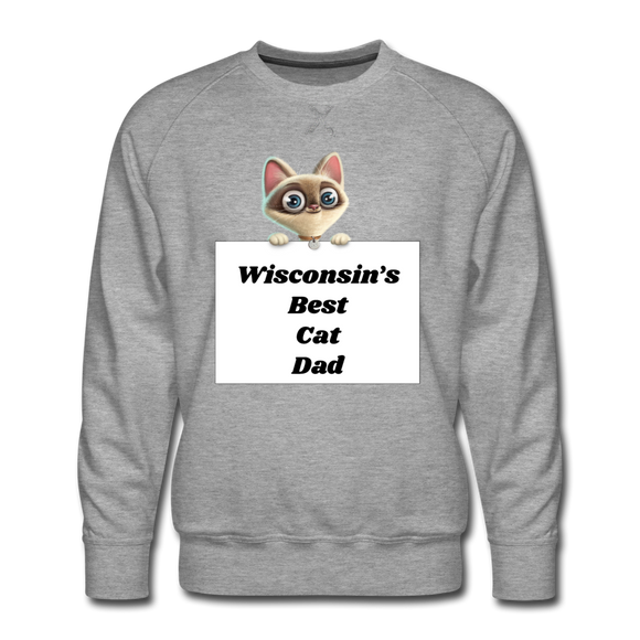 Best Cat Dad - Men's Premium Sweatshirt - heather gray