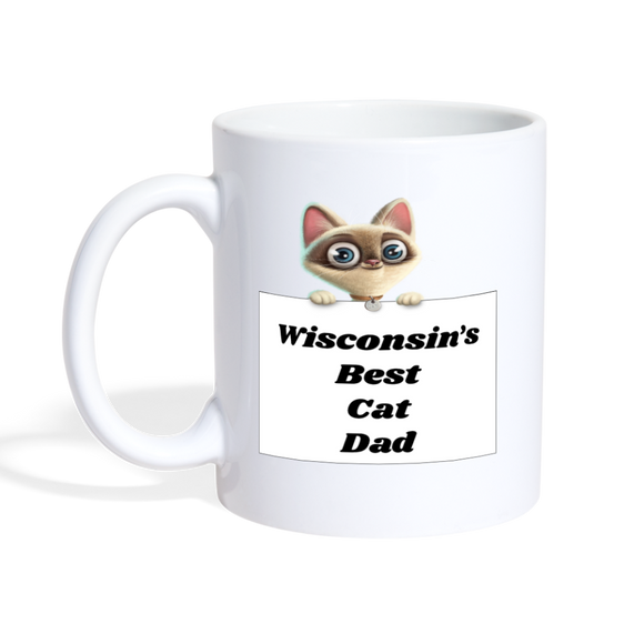 Best Cat Dad - Coffee/Tea Mug - white
