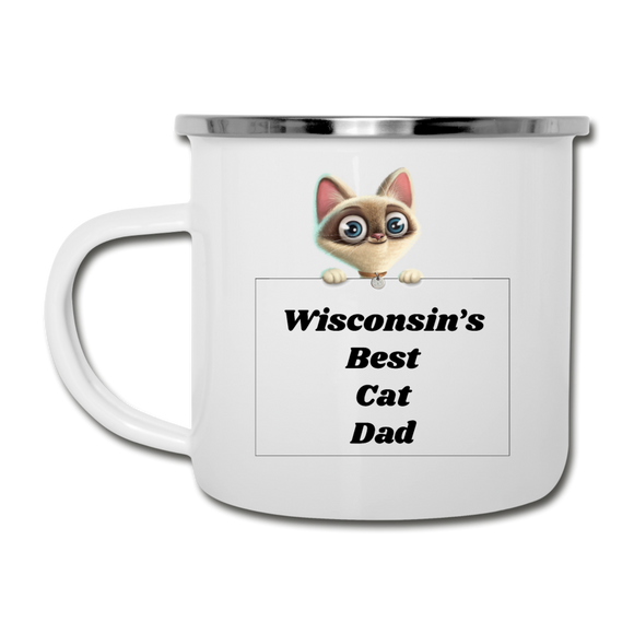 Best Cat Dad - Camper Mug - white