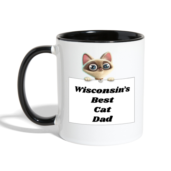 Best Cat Dad - Contrast Coffee Mug - white/black