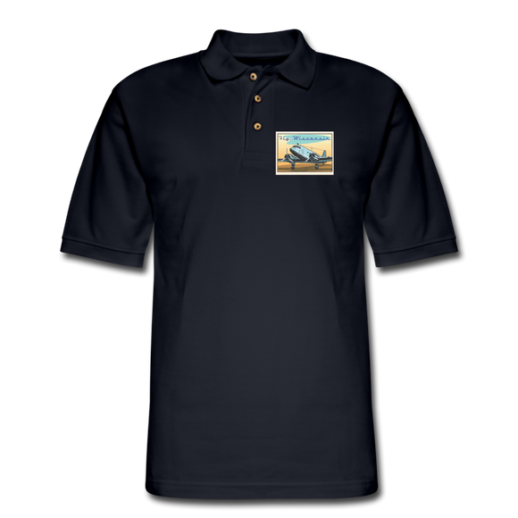 Fly Wisconsin - Men's Pique Polo Shirt - midnight navy