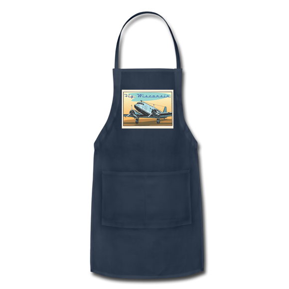 Fly Wisconsin - Adjustable Apron - navy