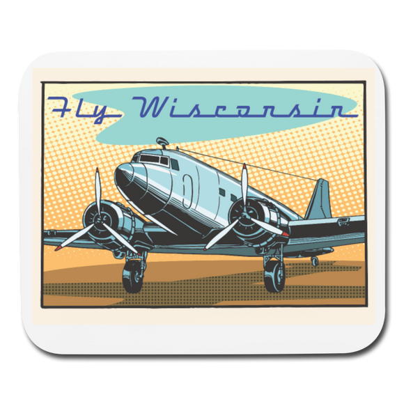 Fly Wisconsin - Mouse pad Horizontal - white
