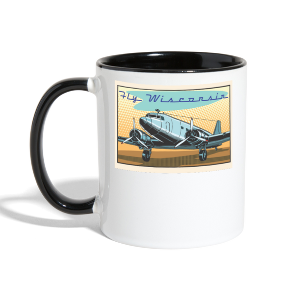 Fly Wisconsin - Contrast Coffee Mug - white/black
