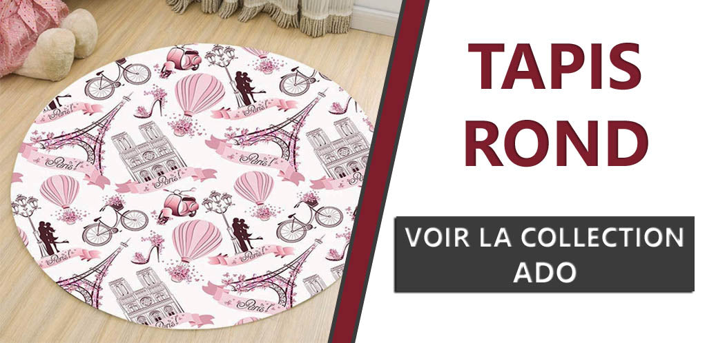 Collection tapis ronds ados