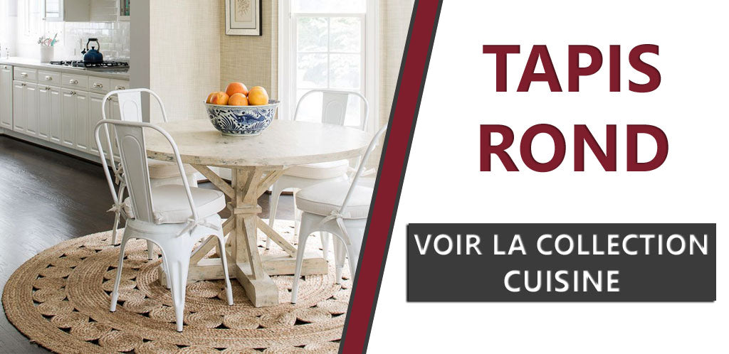 Collection de tapis ronds pour la cuisine