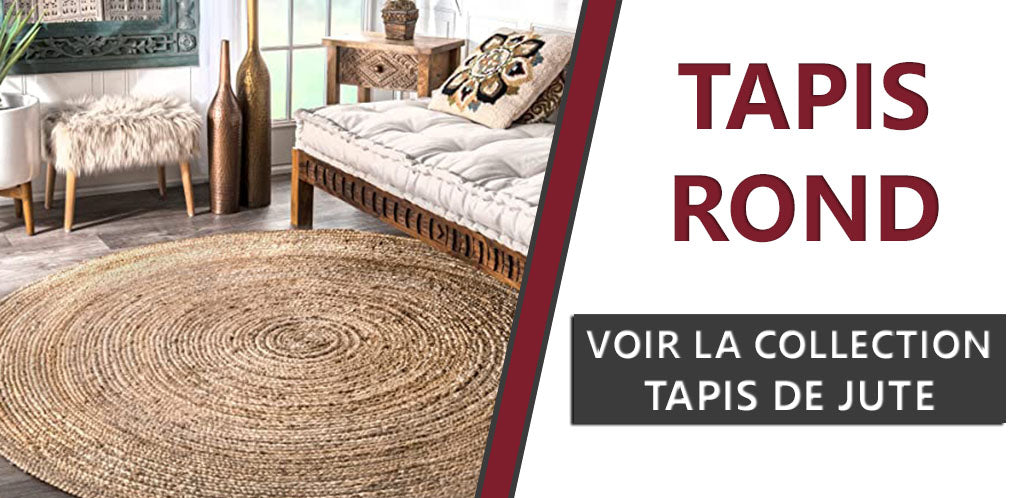 Collection Tapis Rond de Jute