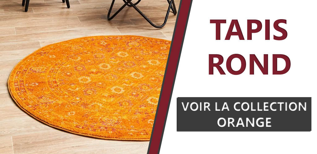 Collection de tapis ronds orange