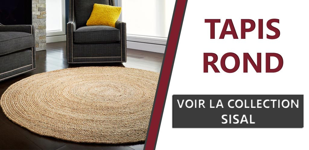 Collection tapis ronds en sisal
